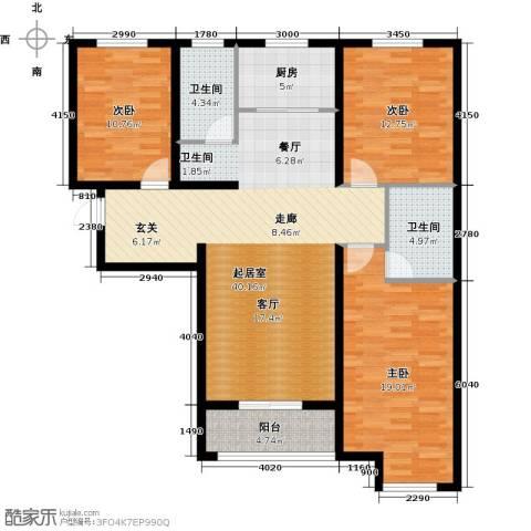 顺平水木清华3室0厅2卫1厨114.80㎡户型图