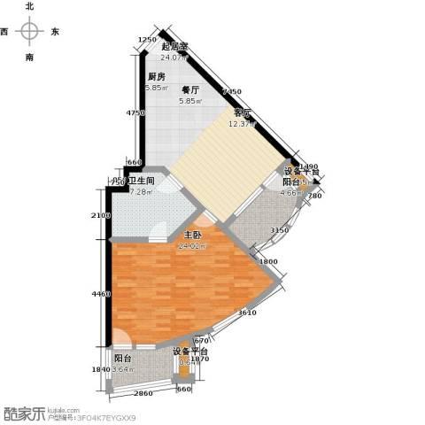 御庭春MOM∧白金海岸公寓1室0厅1卫0厨89.00㎡户型图