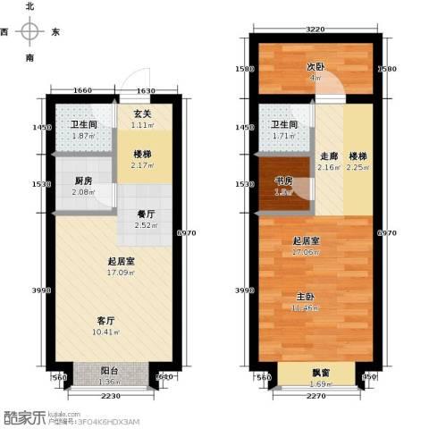 石家庄紫金大厦2室0厅2卫1厨52.00㎡户型图