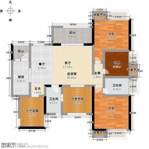 中融金湖名城,御湖3室0厅2卫1厨123.00㎡户型图