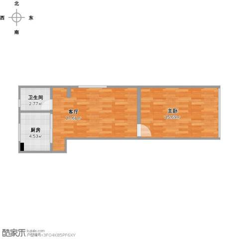 华理苑1室1厅1卫1厨56.00㎡户型图