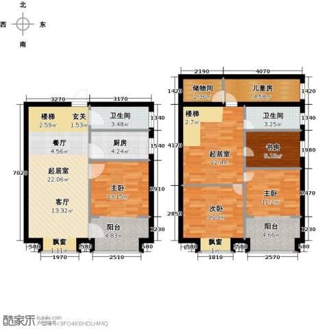 石家庄紫金大厦5室0厅2卫1厨103.00㎡户型图