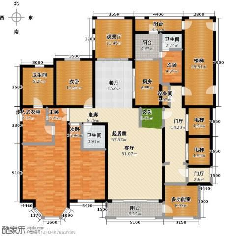 河畔公馆4室0厅3卫1厨334.00㎡户型图