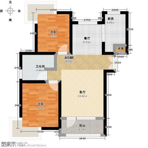 天一海尚阳光2室0厅1卫1厨89.00㎡户型图