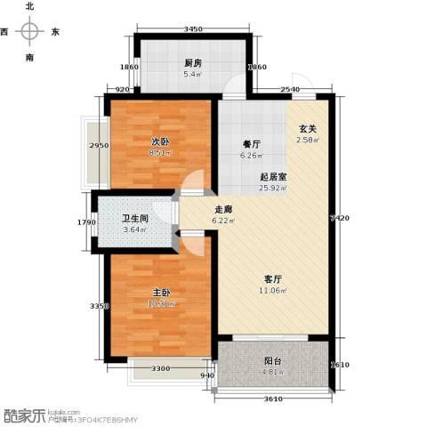 帝景国际2室0厅1卫1厨83.00㎡户型图