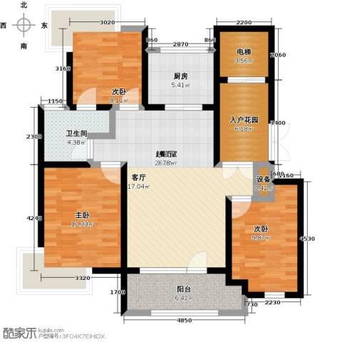 天一海尚阳光3室0厅1卫1厨114.00㎡户型图