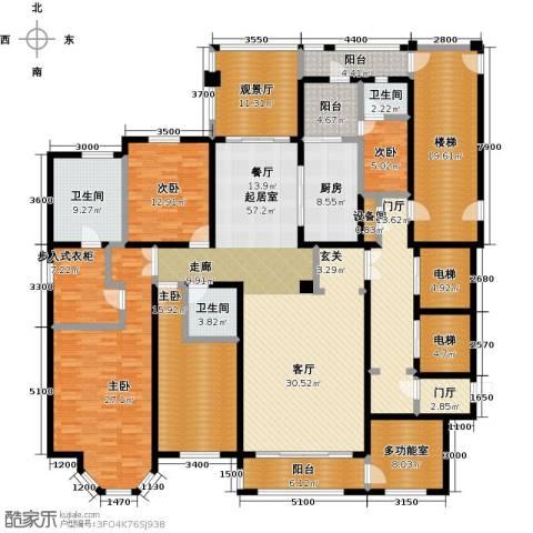 河畔公馆4室0厅3卫1厨243.00㎡户型图