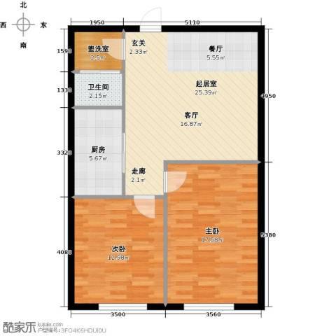 石家庄紫金大厦2室0厅1卫1厨73.00㎡户型图
