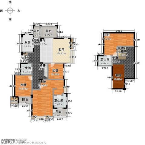 国贸仁皇4室0厅3卫1厨178.65㎡户型图