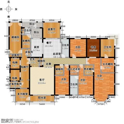河畔公馆5室0厅4卫1厨340.00㎡户型图