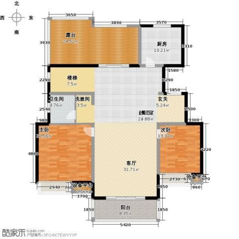 朝阳首府2室0厅1卫1厨174.00㎡户型图