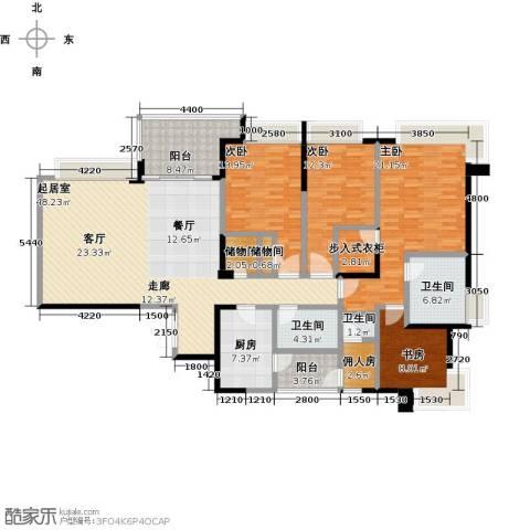 都城雅颂居4室0厅3卫1厨188.00㎡户型图