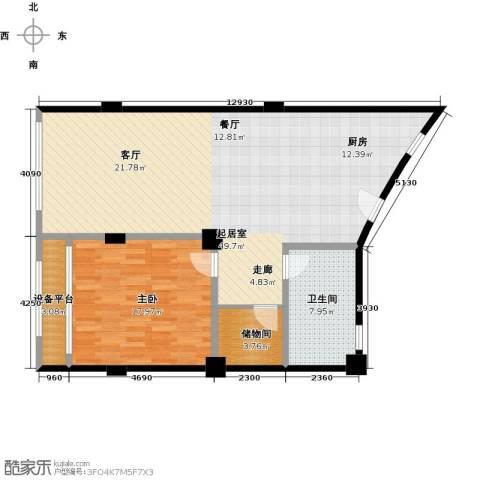 名人国际1室0厅1卫0厨114.00㎡户型图