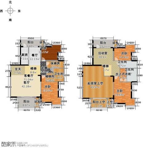 浦江国际4室1厅3卫1厨425.00㎡户型图