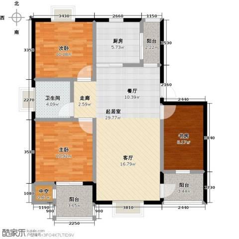 名人国际3室0厅1卫1厨112.00㎡户型图