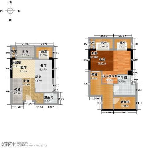 五洲国际电子城1室0厅2卫0厨78.69㎡户型图