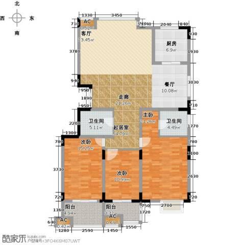 历山名郡一期3室0厅2卫1厨182.00㎡户型图