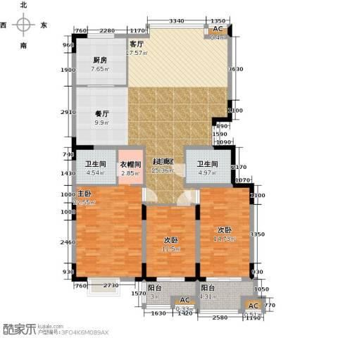 历山名郡一期3室0厅2卫1厨179.00㎡户型图