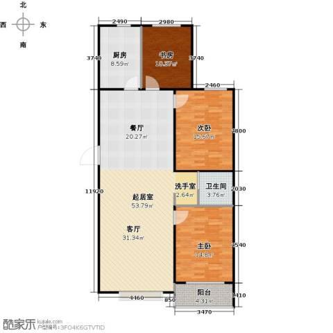 石家庄国粹3室0厅1卫1厨118.00㎡户型图