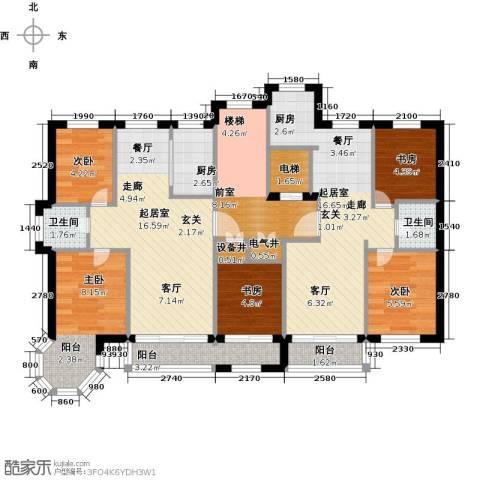 华源贝鸟逸轩5室0厅2卫1厨95.00㎡户型图