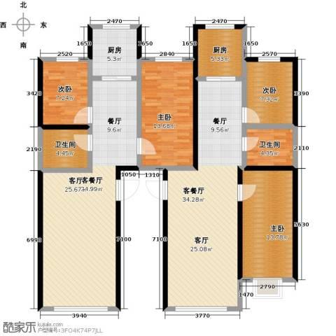 金坤新城花苑4室2厅2卫2厨130.71㎡户型图