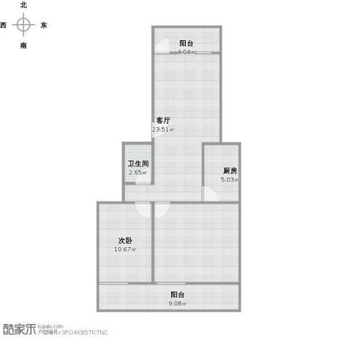 龙湖花园1室1厅1卫1厨97.00㎡户型图