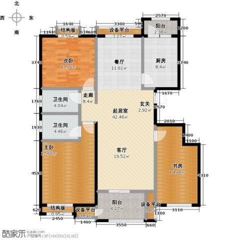 东亚原香小镇3室0厅2卫1厨134.00㎡户型图
