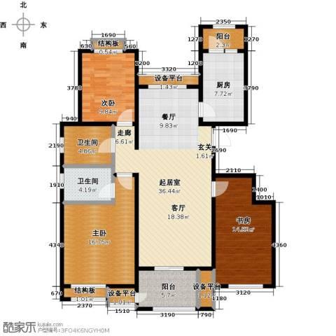 东亚原香小镇3室0厅2卫1厨119.00㎡户型图