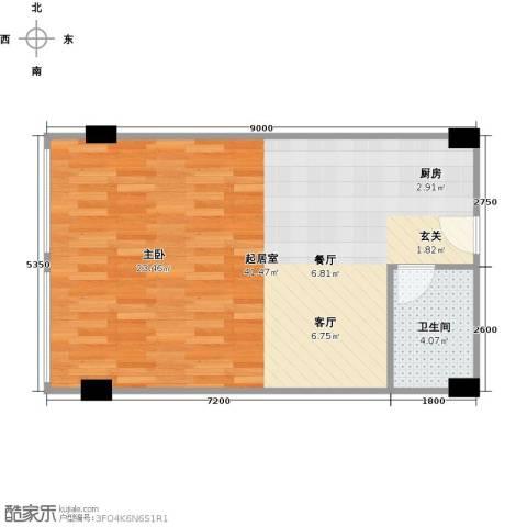 春江名城1卫0厨62.00㎡户型图