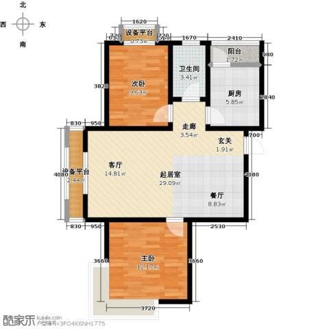 东亚原香小镇2室0厅1卫1厨73.00㎡户型图