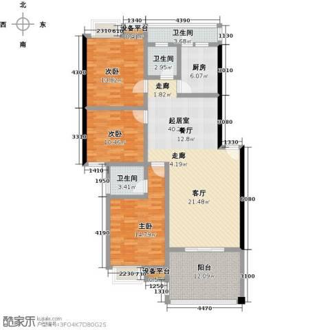 拓兴・阳光新城3室0厅3卫1厨138.00㎡户型图