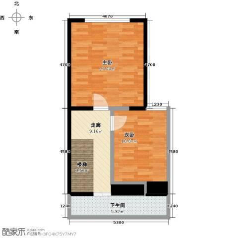 瑞景名郡2室0厅1卫0厨50.00㎡户型图