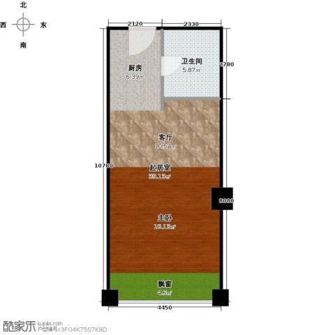 中建峰汇广场1卫0厨48.00㎡户型图