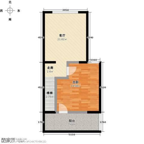 瑞景名郡1室1厅0卫0厨62.00㎡户型图