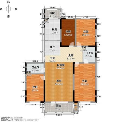 好民居康泰嘉园4室0厅2卫1厨193.00㎡户型图