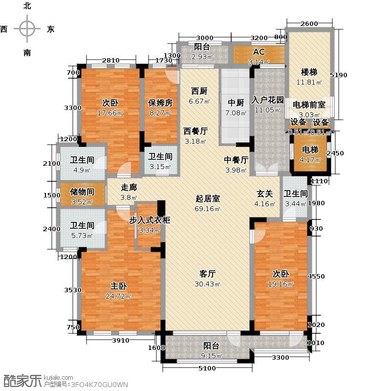 东景美林未命名1户型3室4卫