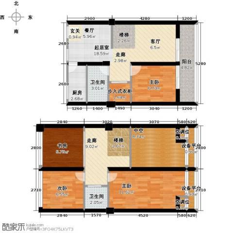 金艺百汇广场4室0厅2卫1厨100.00㎡户型图