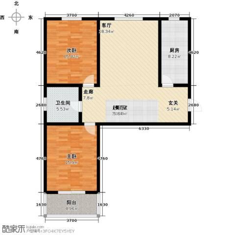 锦绣城2室0厅1卫1厨97.00㎡户型图