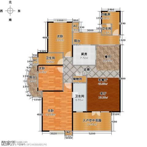 海阔天空・国瑞城3室1厅3卫1厨174.00㎡户型图