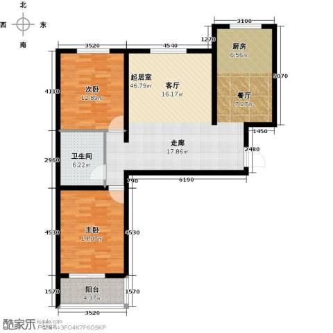 朗月蓝庭2室0厅1卫0厨105.00㎡户型图