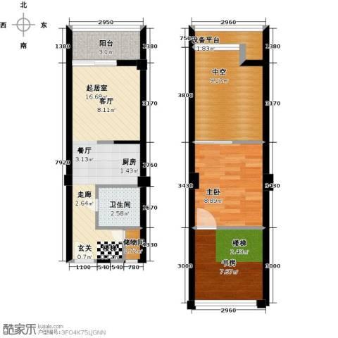 金艺百汇广场2室0厅1卫0厨60.00㎡户型图