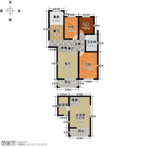 同科・汇丰国际3室1厅1卫0厨126.00㎡户型图