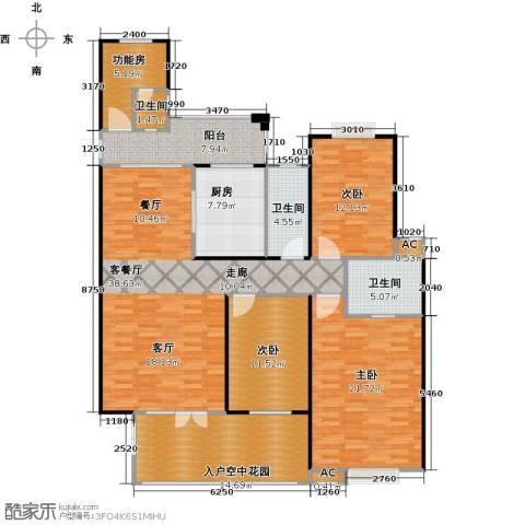 海阔天空・国瑞城3室1厅3卫1厨166.00㎡户型图