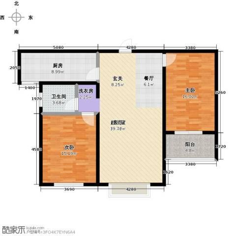 锦绣城2室0厅1卫1厨95.00㎡户型图