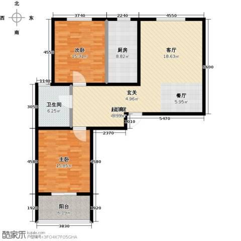 锦绣城2室0厅1卫1厨103.00㎡户型图