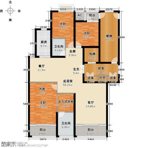 鲁商中心3室0厅2卫1厨190.00㎡户型图