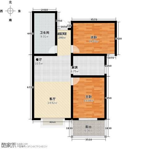 锦绣城2室0厅1卫1厨88.00㎡户型图