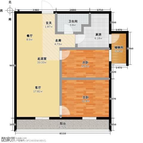 莫比国际2室0厅1卫1厨114.00㎡户型图