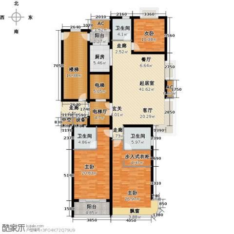 鲁商中心3室0厅3卫1厨180.00㎡户型图