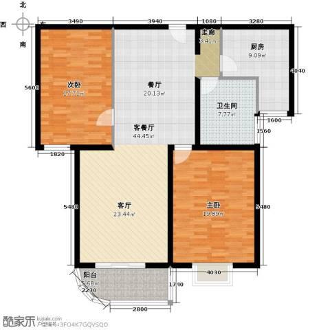 大唐盛苑2室1厅1卫1厨116.00㎡户型图